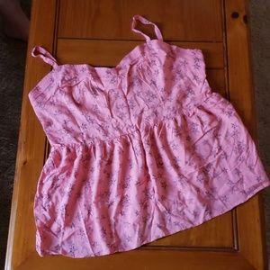 NWOT pink babydoll top